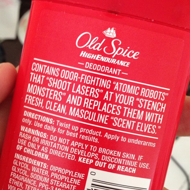 Might be time for Old Spice to dial it back a little.. I get it. I get it.