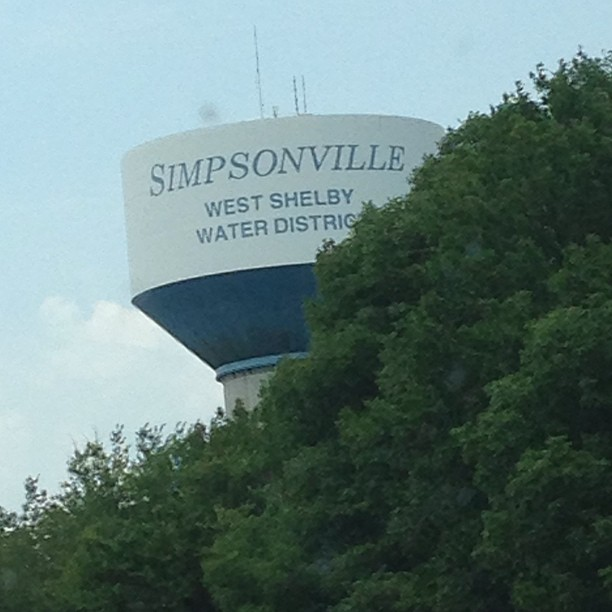 Learned that in the real world... Simpsonville is next to Shelbyville..