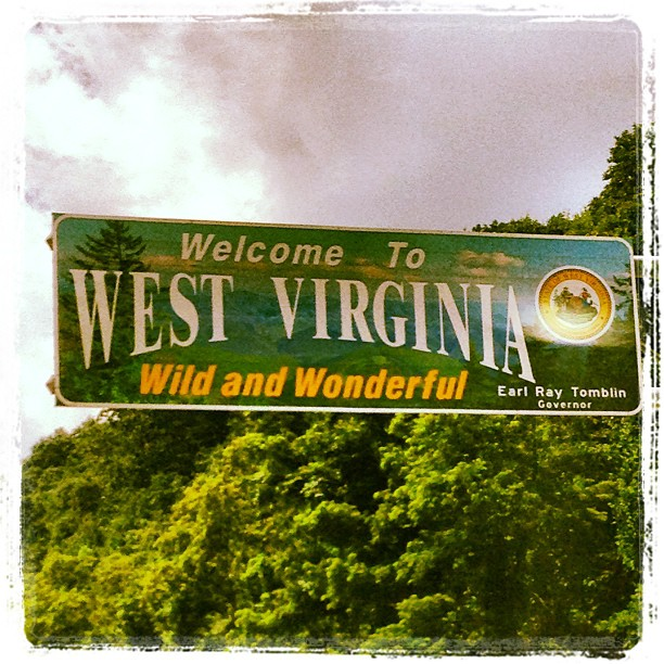 Wild and Wonderfullerful! Crossing into the WV...