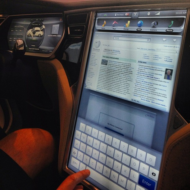 A Tesla dashboard.. That seems safe...
