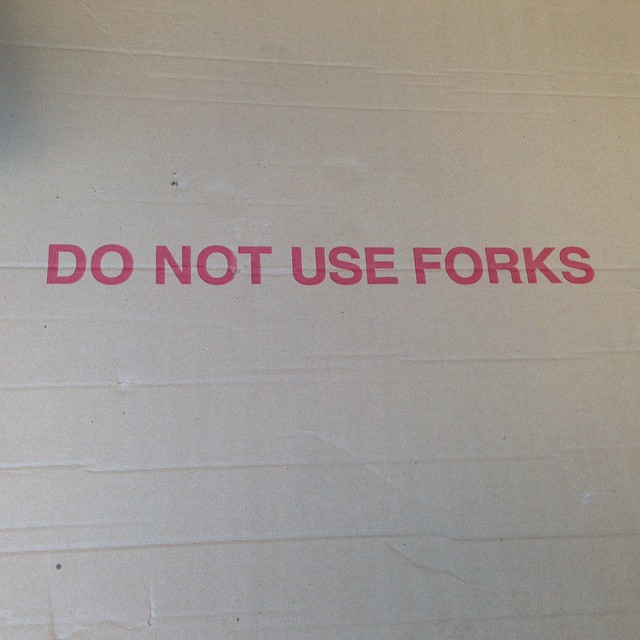 "... ""partner"" with forks."