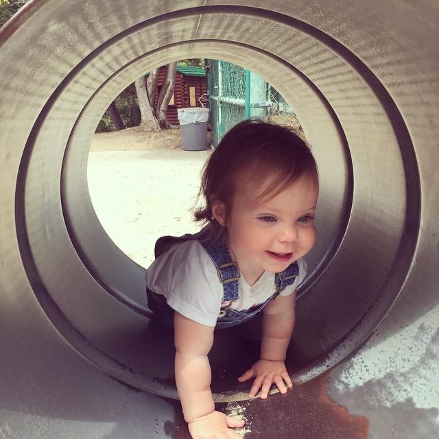 Bubba in a barrel..